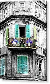 Mardi Gras Balcony Fusion New Orleans Acrylic Print
