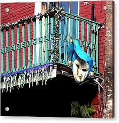 Mardi Gras Balcony Acrylic Print