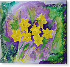 Mardi Gras Daffodils Acrylic Print