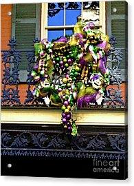 Mardi Gras Decor 1 Acrylic Print