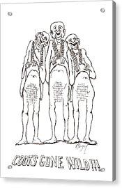 Mardi Gras II Acrylic Print by R  Allen Swezey