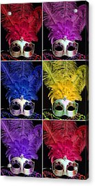 Mardi Gras Mask Collage 2 Acrylic Print