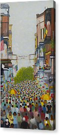 Mardi Gras On Bourbon Street Acrylic Print by Douglas Ann Slusher