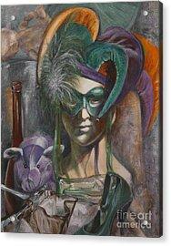 Mardi Gras Acrylic Print by Pam Raney