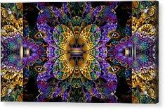 Mardi Gras Split Crop Acrylic Print by Peggi Wolfe