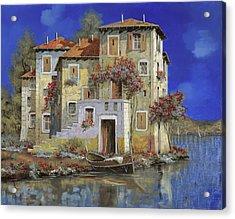 Mareblu' Acrylic Print by Guido Borelli