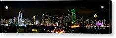 Margaret Hunt Hill Bridge And Dallas Skyline Acrylic Print