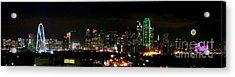 Margaret Hunt Hill Bridge And Dallas Skyline Acrylic Print by Wendy Emel