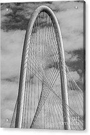 Margaret Hunt Hill Bridge Bw Acrylic Print