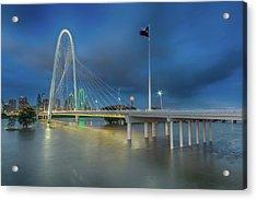 Acrylic Print featuring the photograph Margaret Hunt Hill Bridge Dallas Texas by Robert Bellomy