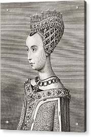 Margaret Of Denmark, 1456 Acrylic Print by Vintage Design Pics