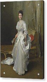 Margaret Stuyvesant Rutherfurd White Acrylic Print by John Singer Sargent