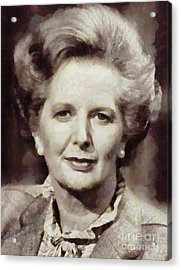 Margaret Thatcher, Prime Minister Of The United Kingdom By Sarah Kirk Acrylic Print by Sarah Kirk