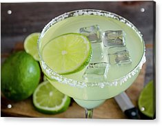 Acrylic Print featuring the photograph Margarita Close Up by Teri Virbickis