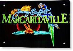 Margaritaville Neon Acrylic Print