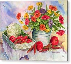 Margie's Veggies Acrylic Print by Barbel Amos