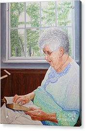 Acrylic Print featuring the painting Margret Lawson by Mike Ivey