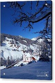 Maria Gern In The Bavarian Alps 1 Acrylic Print by Rudi Prott