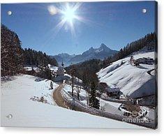 Maria Gern In The Bavarian Alps 2 Acrylic Print by Rudi Prott