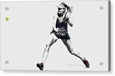Maria Sharapova 3y Acrylic Print by Brian Reaves