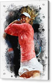 Maria Sharapova Of Russia In Action Acrylic Print by Don Kuing