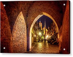 Acrylic Print featuring the photograph Mariacka By Night  by Carol Japp