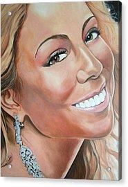 Mariah Carey Acrylic Print by Timothe Winstead