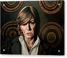 Marianne Faithfull Painting Acrylic Print by Paul Meijering