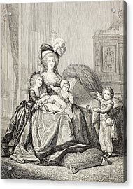 Marie-antoinette And Her Children. From Acrylic Print
