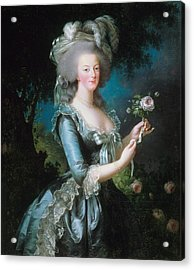Marie-antoinette With The Rose Acrylic Print