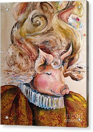 Acrylic Print featuring the painting Marie Pigtoinette by Christy  Freeman