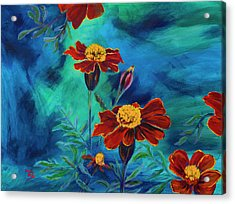 Marigolds Acrylic Print