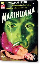 Acrylic Print featuring the painting Marihuana by Bill Fleming