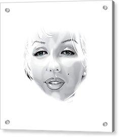Marilyn Acrylic Print by Brian Gibbs