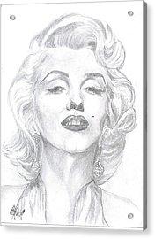 Marilyn  Acrylic Print by Carol Wisniewski