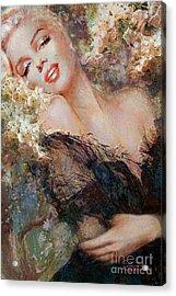 Marilyn Cherry Blossom Acrylic Print