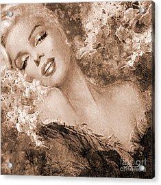 Marilyn Cherry Blossoms, Sepia Acrylic Print