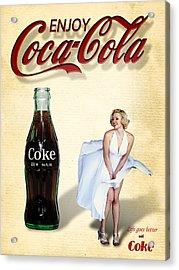 Marilyn Coca Cola Girl 3 Acrylic Print