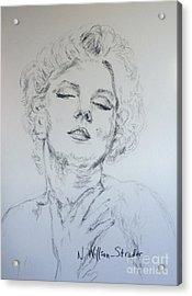 Marilyn, Feelings Acrylic Print by N Willson-Strader