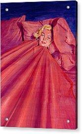Marilyn In Bed Acrylic Print by Ken Meyer jr