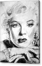 Marilyn In Pose Acrylic Print by Laura Seed