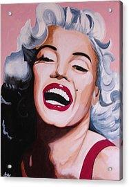 Marilyn Acrylic Print by Jacqui Simpson
