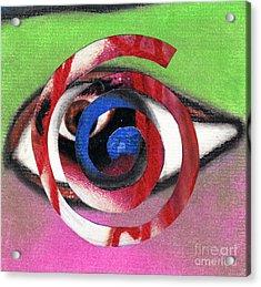 Marilyn Manson Eye Spiral Acrylic Print