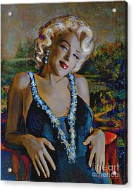 Marilyn Monroe 126 Monalisa Acrylic Print