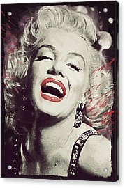Marilyn Monroe Acrylic Print by Afterdarkness