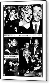 Marilyn Monroe And Joe Dimaggio 1950s Photos By Unknown Japanese Photographer Acrylic Print