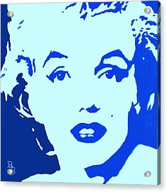 Marilyn Monroe Blue Pop Art Portrait Acrylic Print