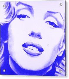 Marilyn Monroe - Blue Tint Acrylic Print