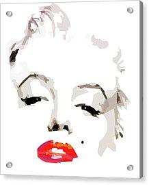 Marilyn Monroe Minimalist Acrylic Print