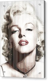 Marilyn Monroe - Colored Verticals Acrylic Print